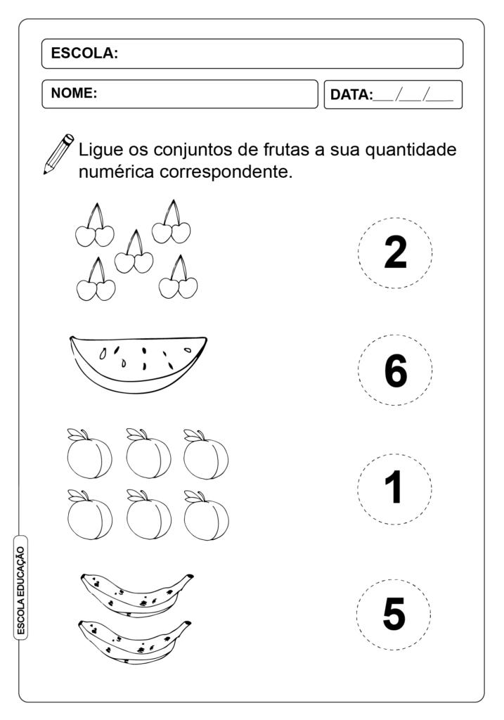 Atividades de Alfabetização Matemática - Quantidade