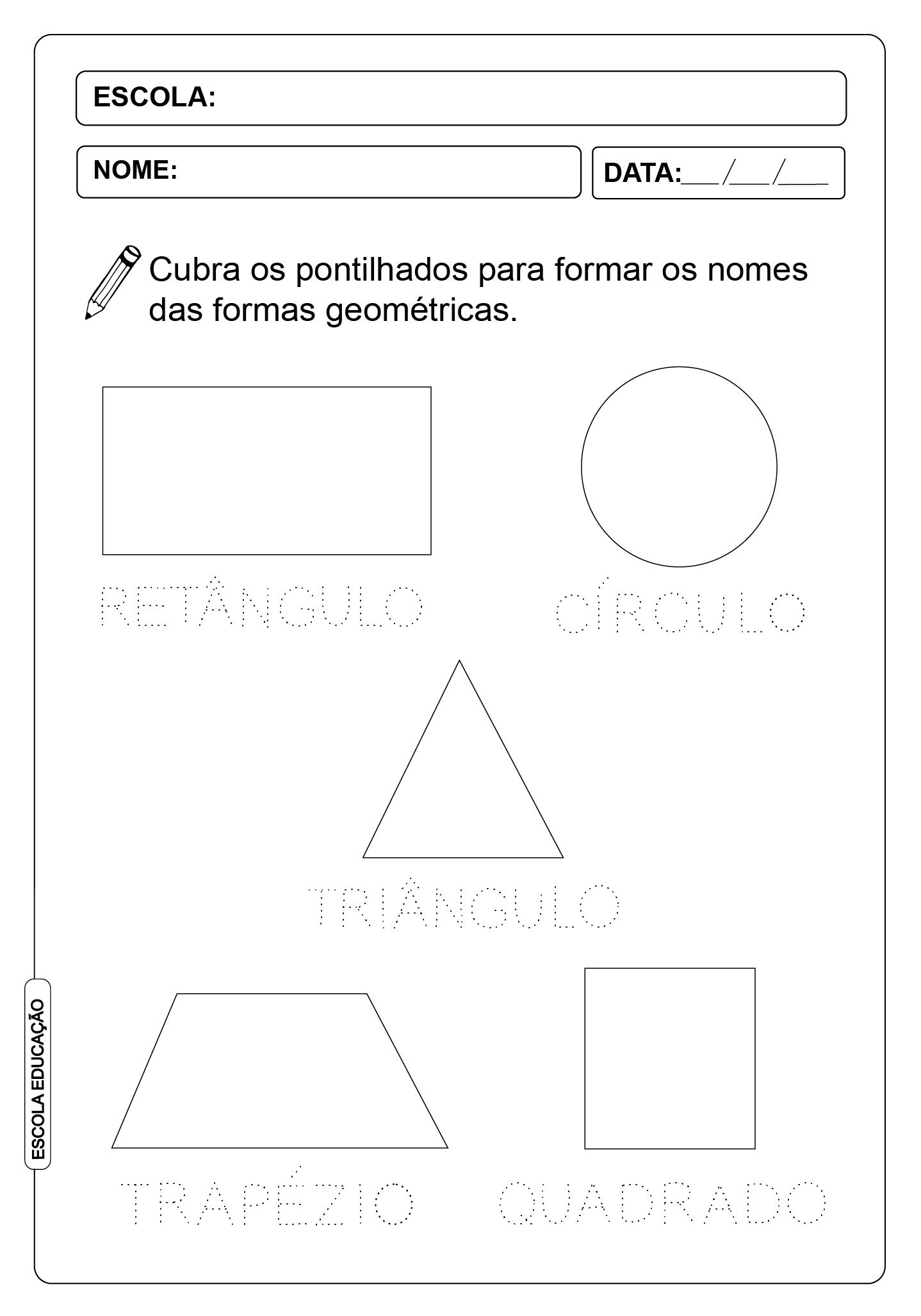 ATIVIDADES PONTILHADAS 25 -FORMAS GEOMÉTRICAS