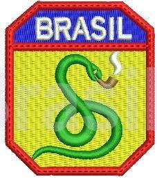 O símbolo da FEB é uma cobra fumando