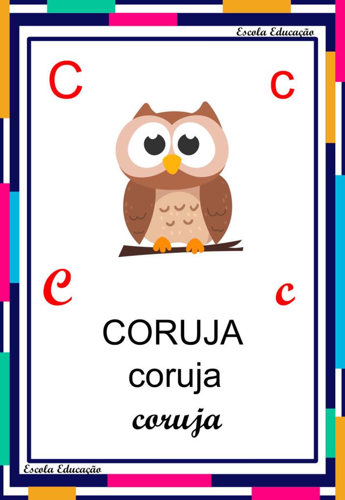 Alfabeto Ilustrado - Letra C