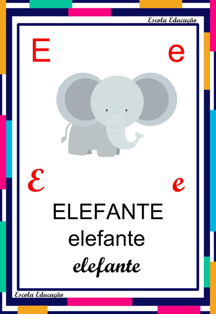 Alfabeto Ilustrado - Letra E