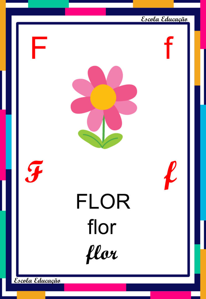 Alfabeto Ilustrado - Letra F