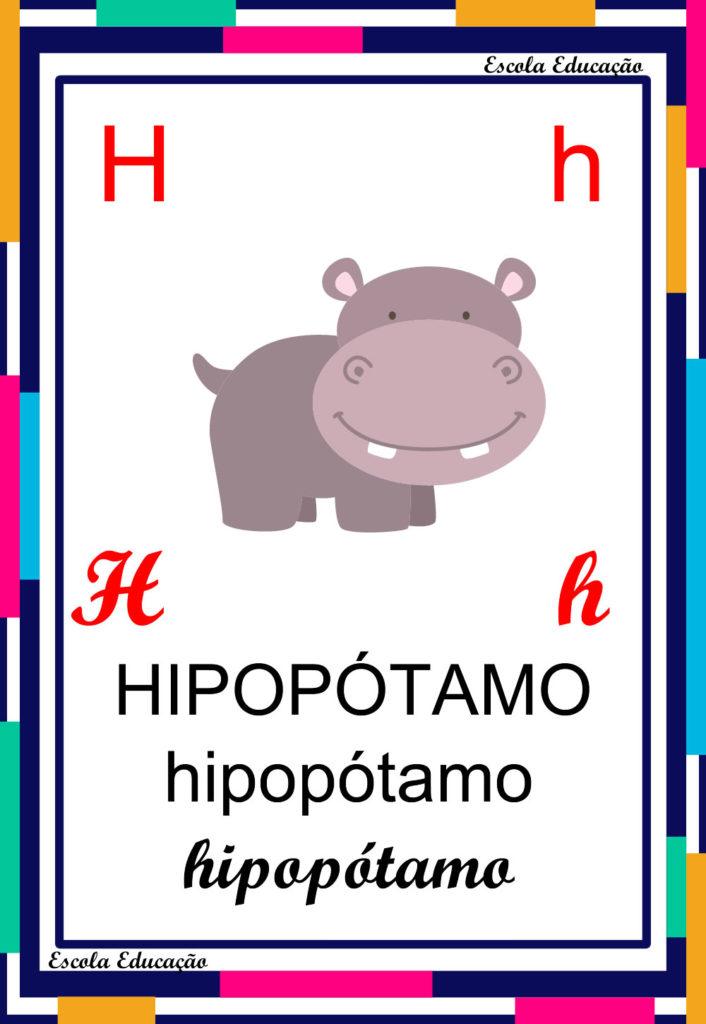Alfabeto Ilustrado - Letra H