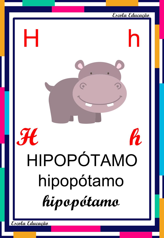 Alfabeto Ilustrado – Letra H