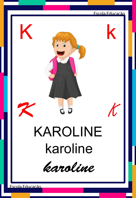 Alfabeto Ilustrado – Letra K