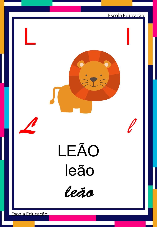 Alfabeto Ilustrado – Letra L