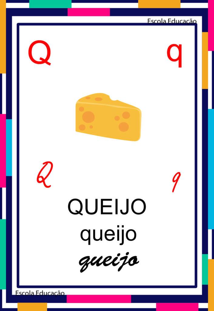 Alfabeto Ilustrado - Letra Q