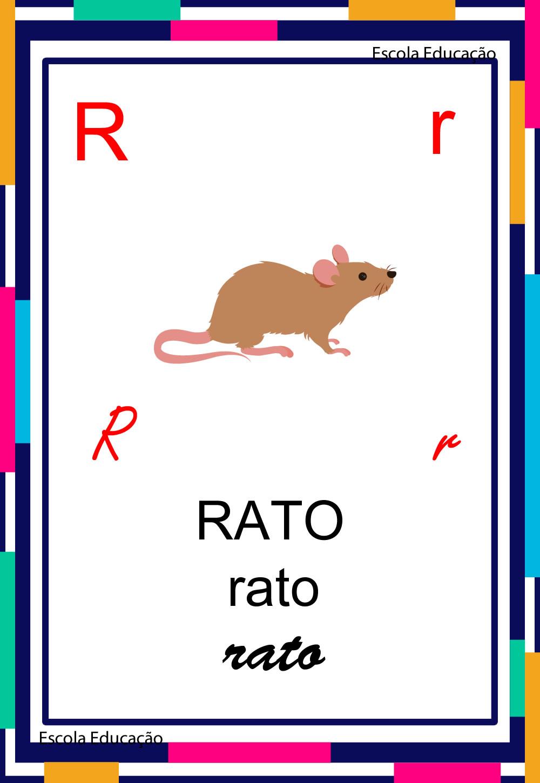 Alfabeto Ilustrado – Letra R