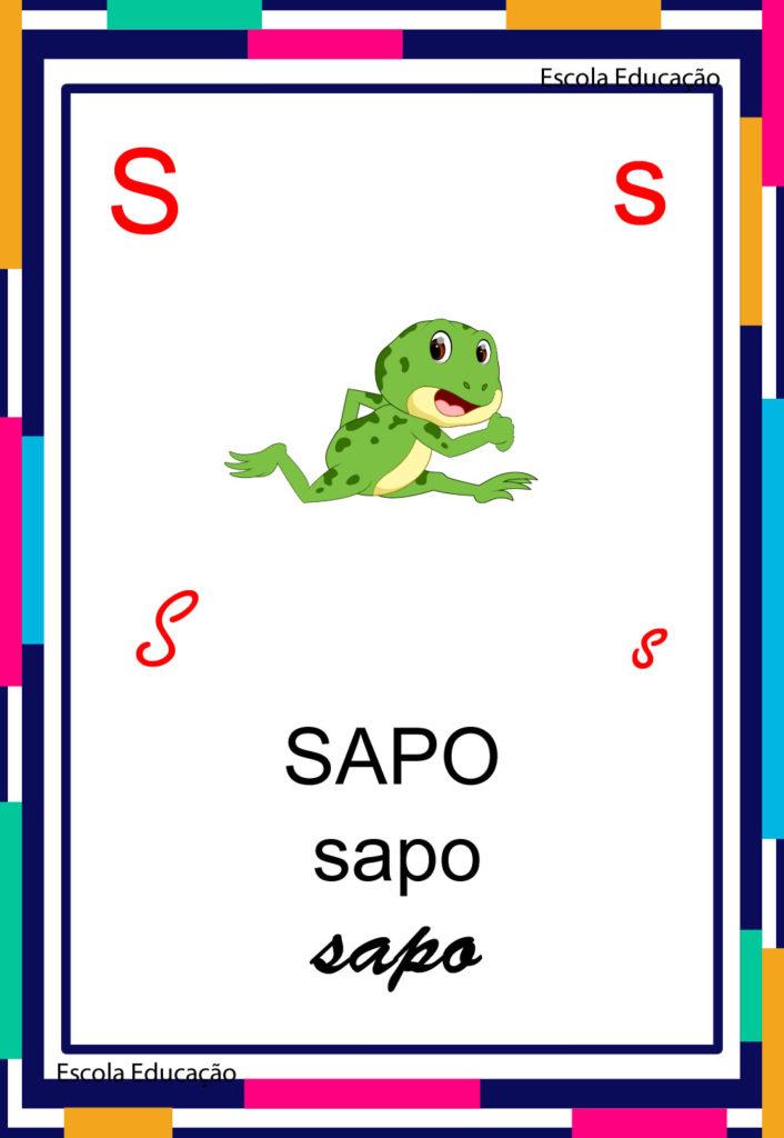 Alfabeto Ilustrado - Letra S