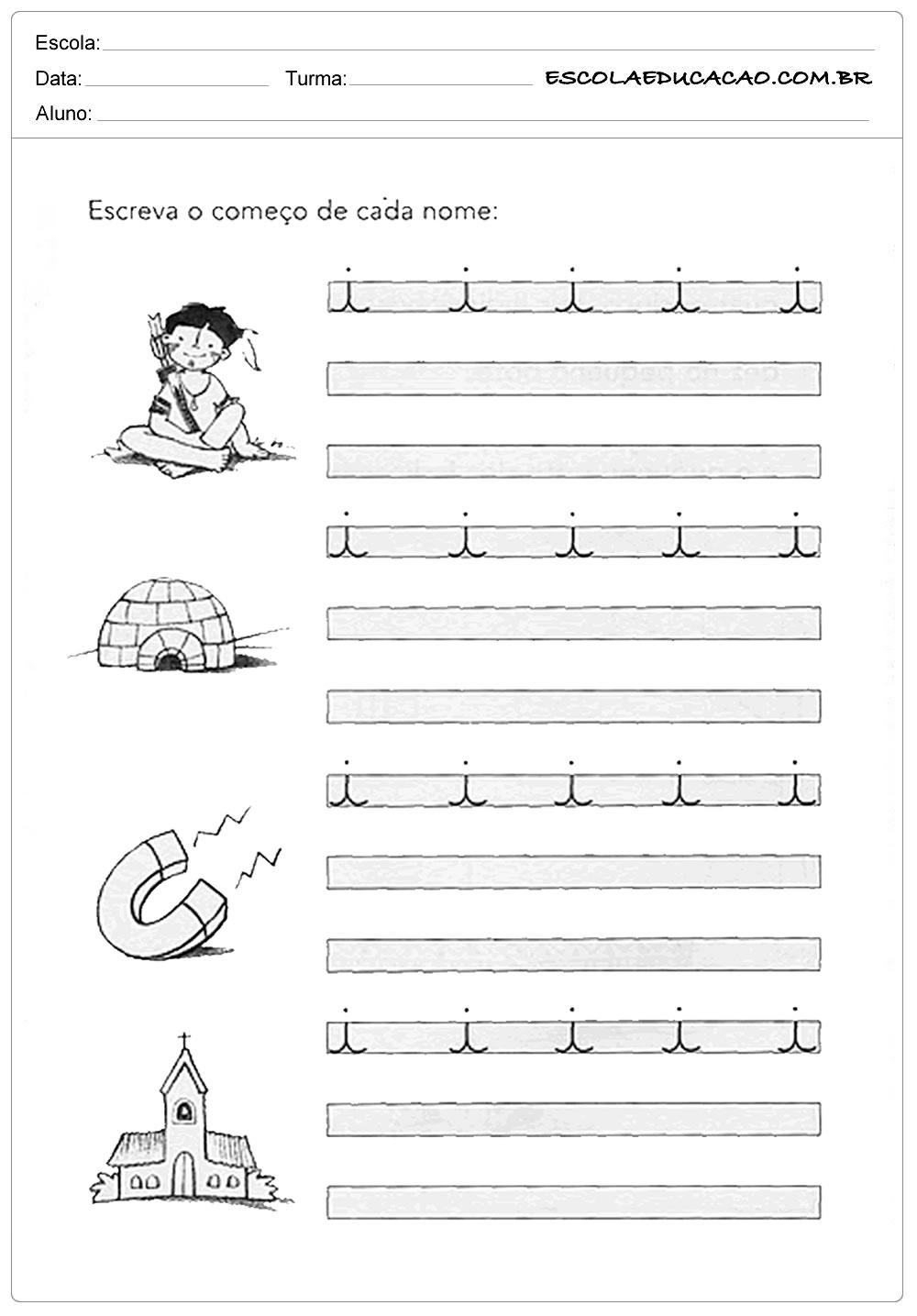 Atividade Letra I – Escreva Corretamente