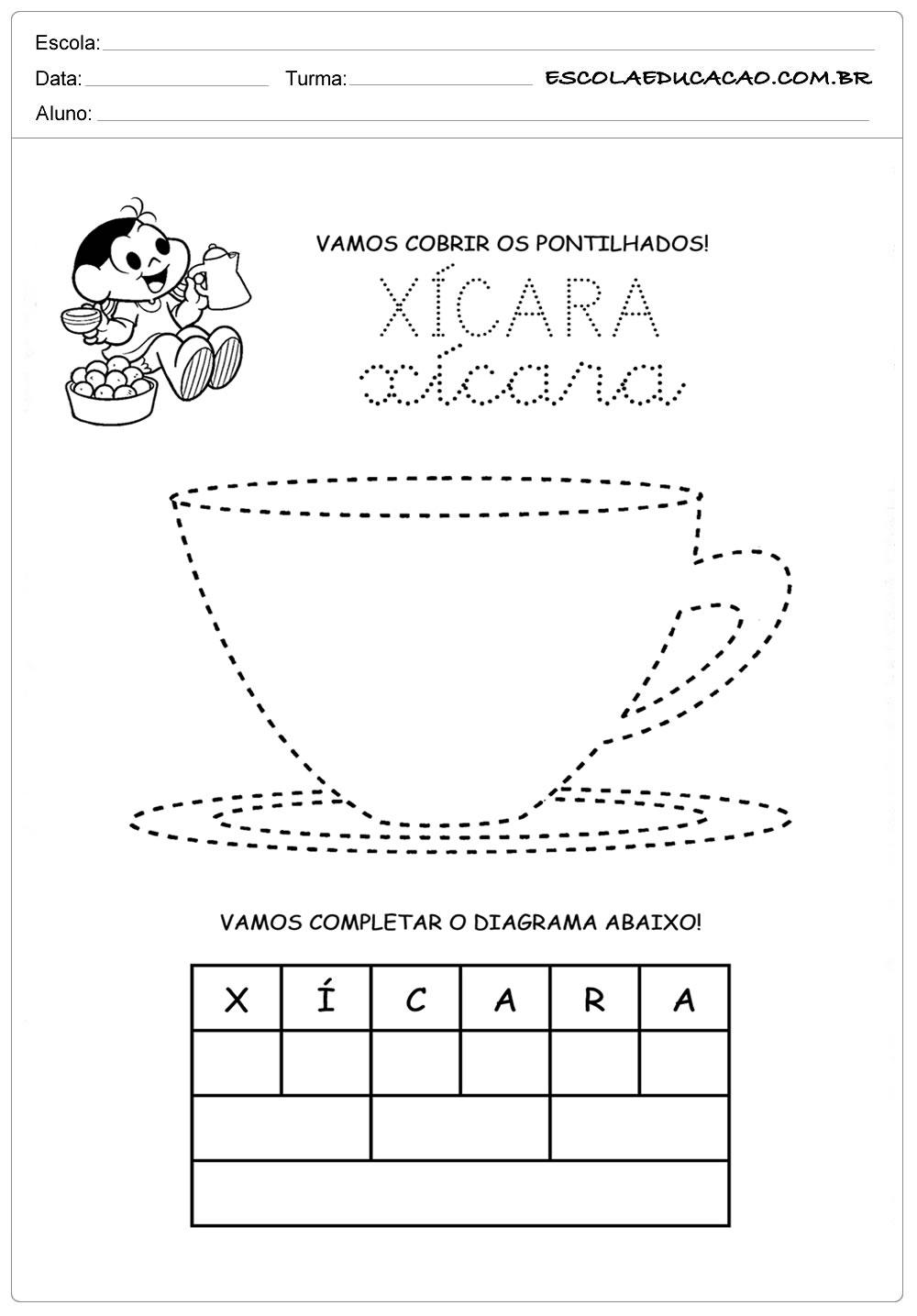 Atividades Letra X – Atividade Educação Infantil