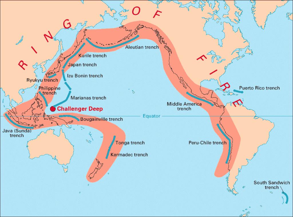 círculo de fogo do Pacífico