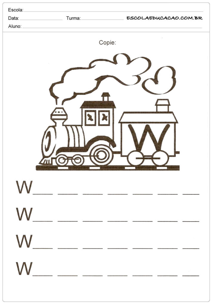 Copie a letra W