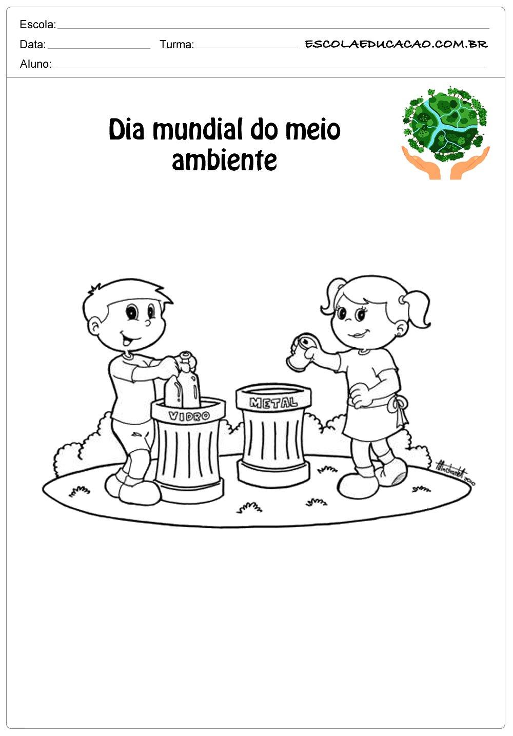 Desenhos para colorir do meio ambiente jogando lixo