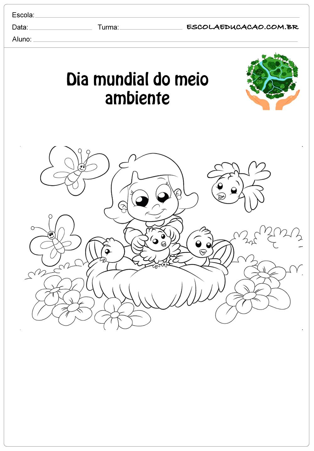 Desenhos para colorir do meio ambiente pinte