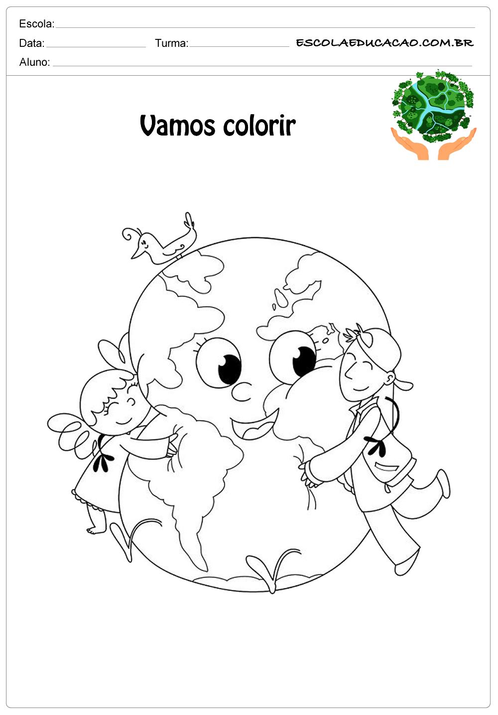 Desenhos para colorir do meio ambiente vamos colorir