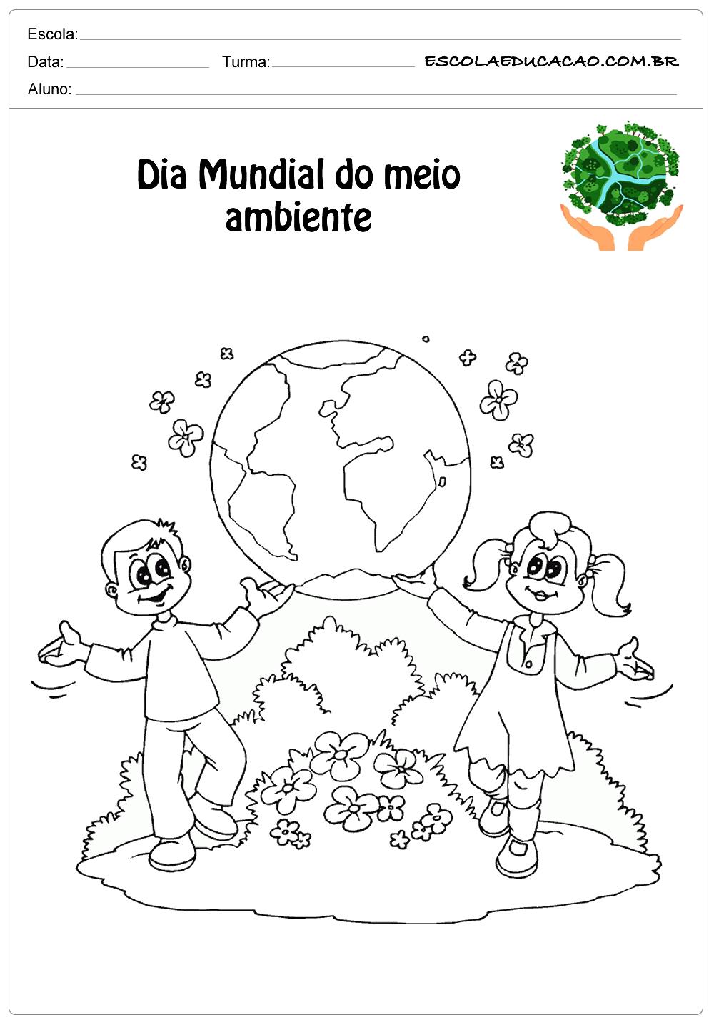 Desenhos para colorir meio ambiente cuide de nosso planeta