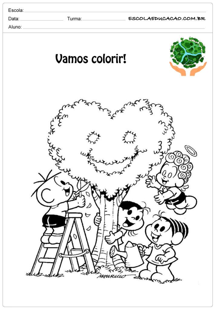 Desenhos para colorir meio ambiente vamos colorir