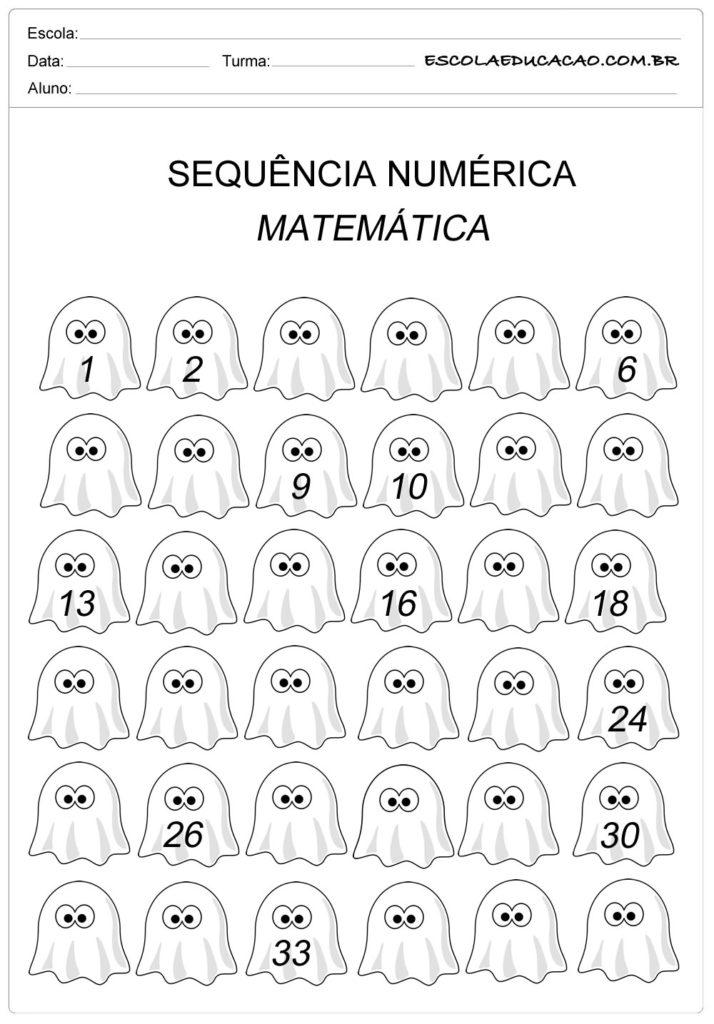 Atividade Sequência Numérica - Sequência até número 30