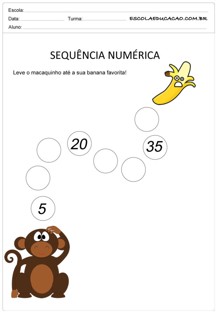 Atividade Sequência Numérica - Sequência de 5 em 5