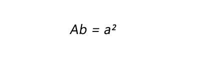 Fórmula para calculo de área da base de um cubo