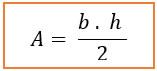 Fórmula para calculo da área do triângulo