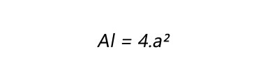 Fórmula para calculo de área lateral de um cubo