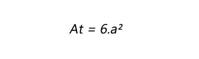 Fórmula para calculo de área total de um cubo