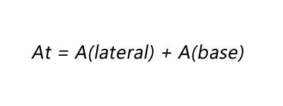 Fórmula da área total da pirâmide