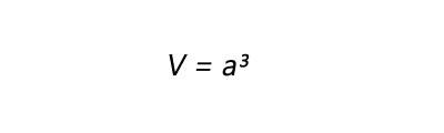 Fórmula para calculo de área volume de um cubo