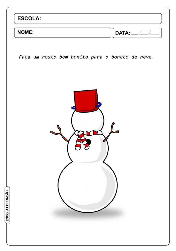 Atividades sobre inverno - Use a imaginação