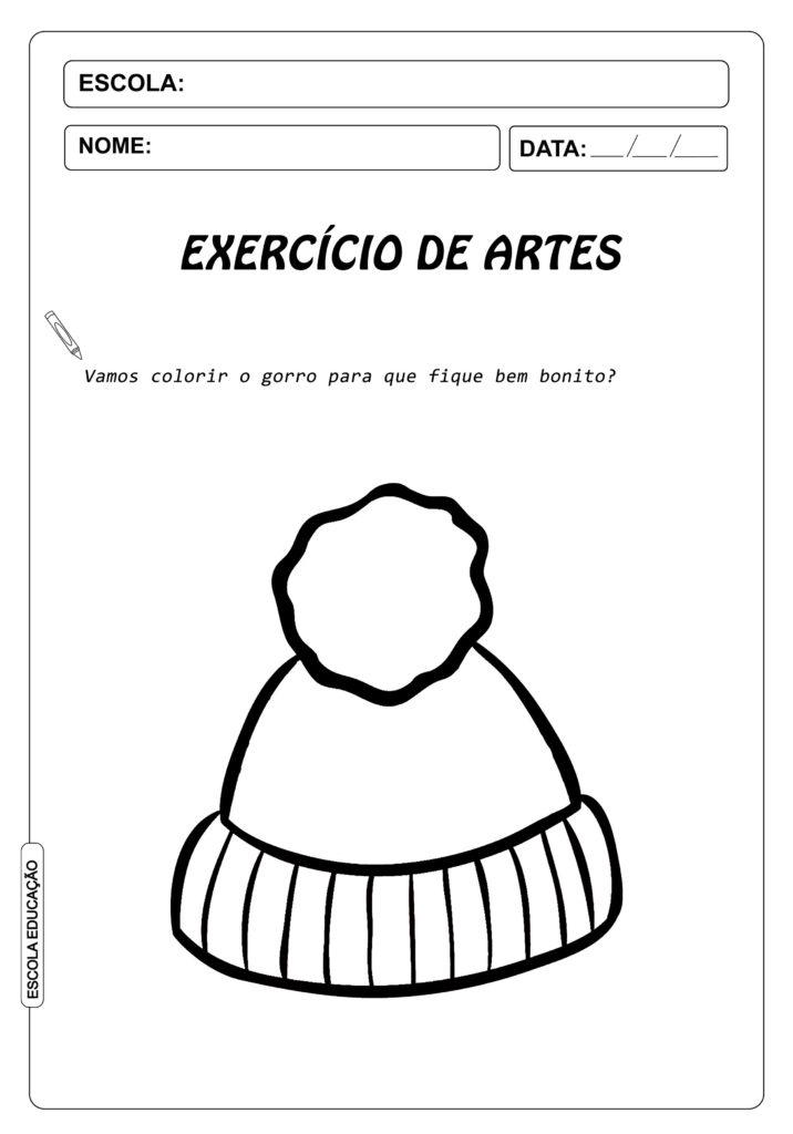 Atividades sobre inverno - Atividades de Artes para colorir