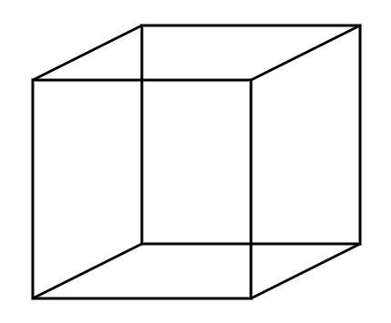 Desenho representativo de um cubo