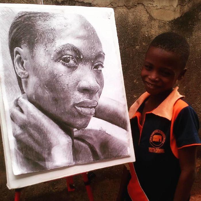 Desenhos realistas de nigeriano