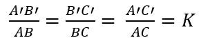 Exemplo de Semelhança de Triângulo
