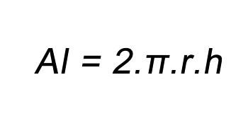 Fórmula área lateral do cilindro