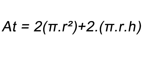 Fórmula área total cilindro
