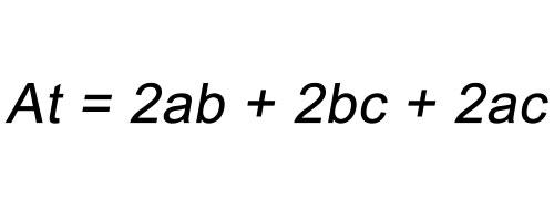 Fórmula área total paralelepípedo