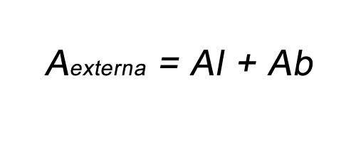 Fórmula para calcular área total da pirâmide