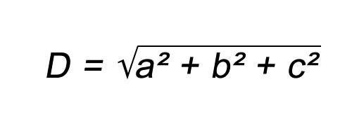 Fórmula diagonal paralelepípedo retângulo