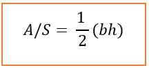 Fórmula para o caso de ser triângulo Retângulo