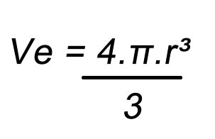Fórmula volume da esfera
