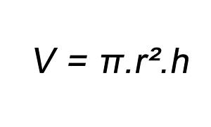 Fórmula volume do cilindro