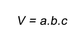 Fórmula Volume Paralelepípedo