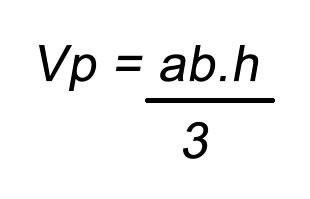 Fórmula volume pirâmide
