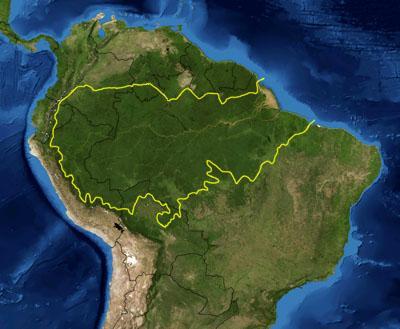 Mapa da ecorregião amazônica