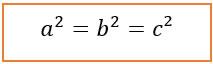 Fórmula para aplicar o teorema de Pitágoras