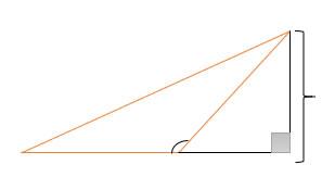 Triângulo com ângulo de 90º