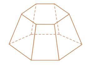 Corte para formar um tronco de triângulo