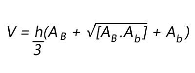 Fórmula de volume do tronco da pirâmide